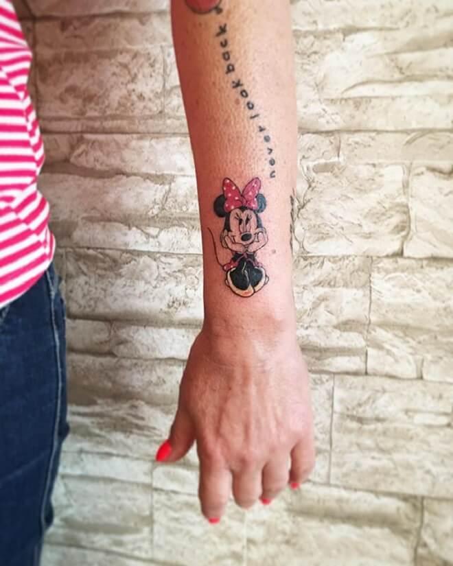 Wrist Minnie Mouse Tattoo
