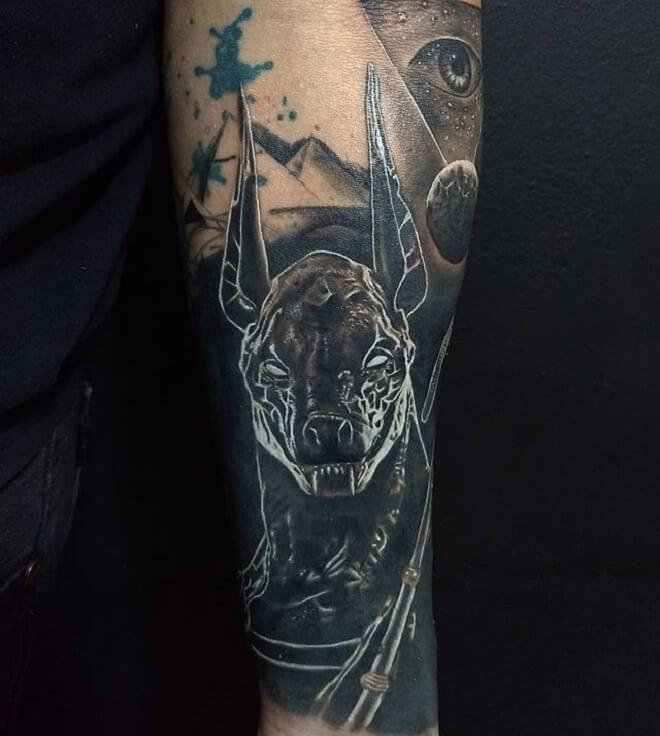 Amazing Anubis Tattoo