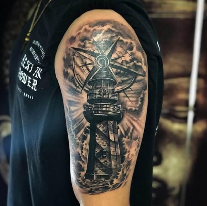 Amazing Lighthouse Tattoo