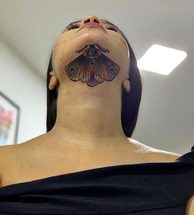 Amazing Moth Tattoo