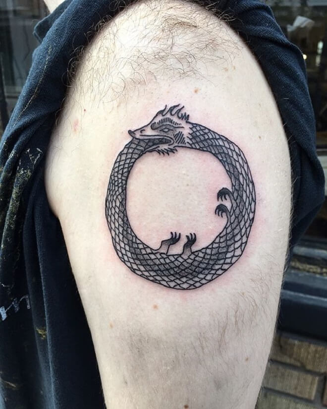 Amazing Ouroboros Tattoo