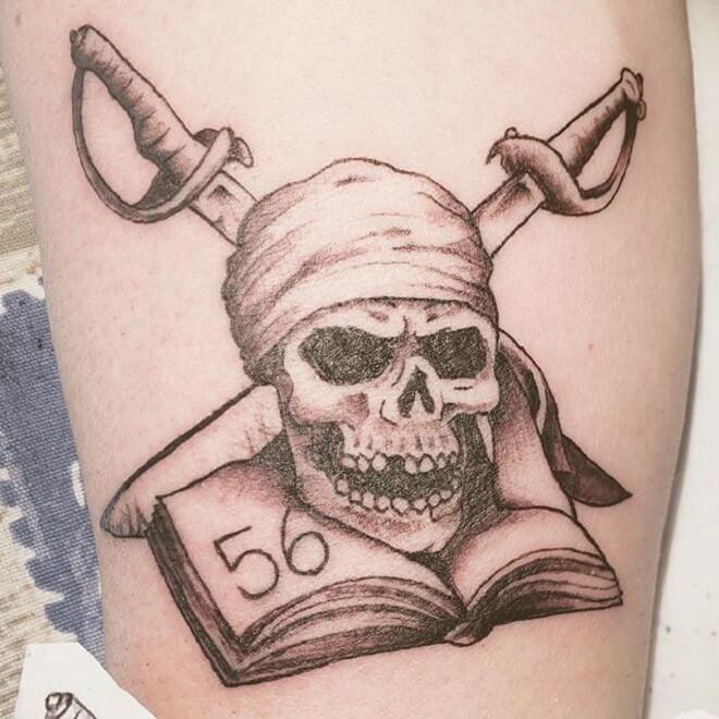Amazing Pirate Skull Tattoo