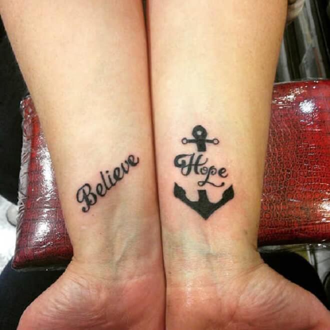 Anchor Hope Tattoo