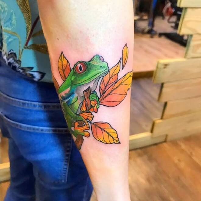 Arm Frog Tattoo