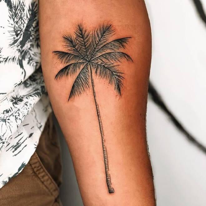Arm Palm Tree Tattoo