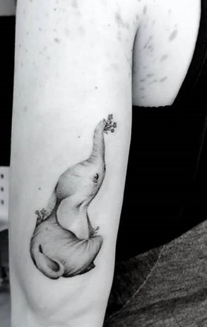 Awesome Baby Elephant Tattoo