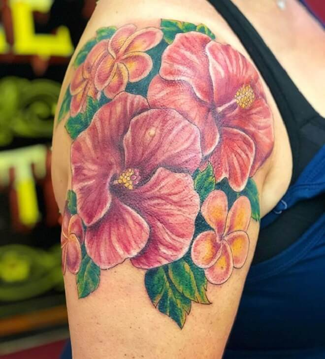Awesome Hibiscus Tattoo