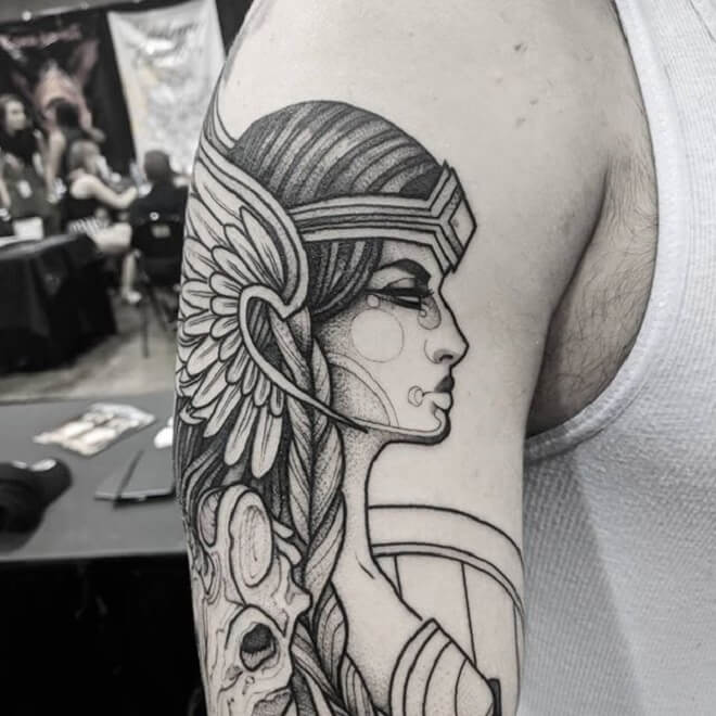 Awesome Valkyrie Tattoo