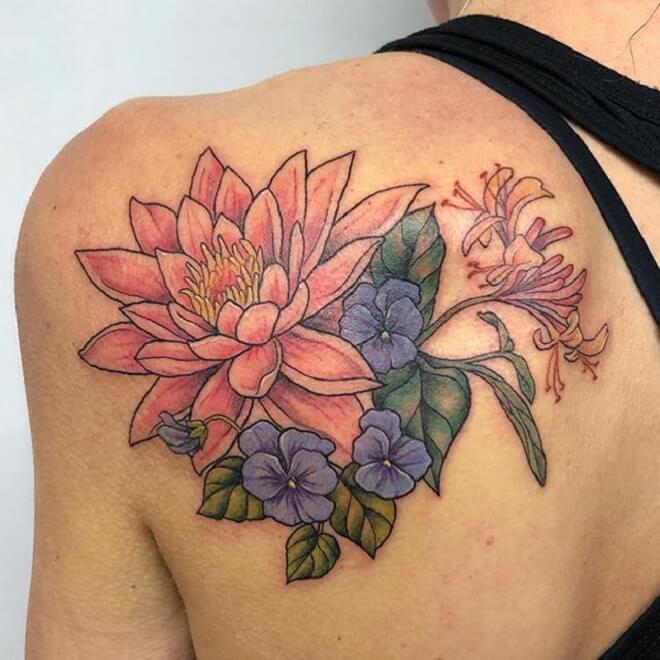 Back Lily Tattoo