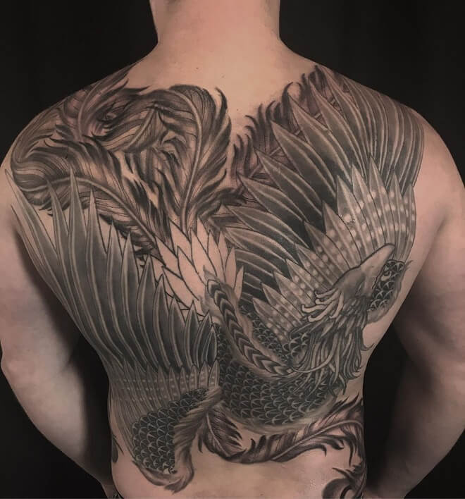 Back Phoenix Tattoo