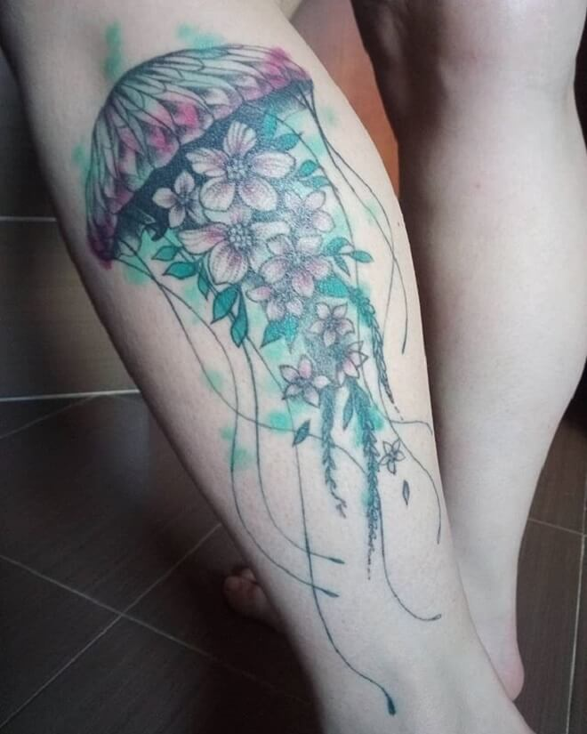 Beautiful Jellyfish Tattoo