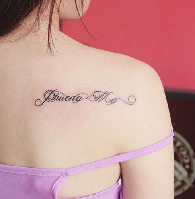 Beautiful Text Tattoo