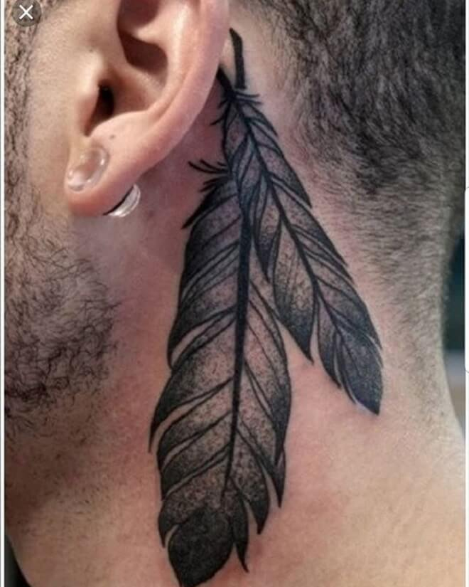 Behind the Ear Men Tattoo