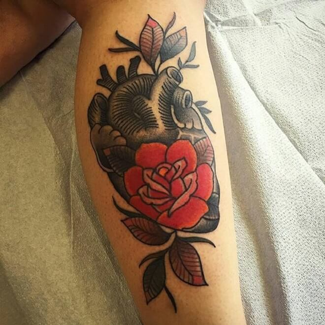 Best Anatomical Heart Tattoo