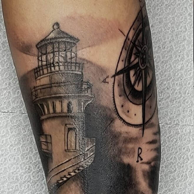 Best Lighthouse Tattoo