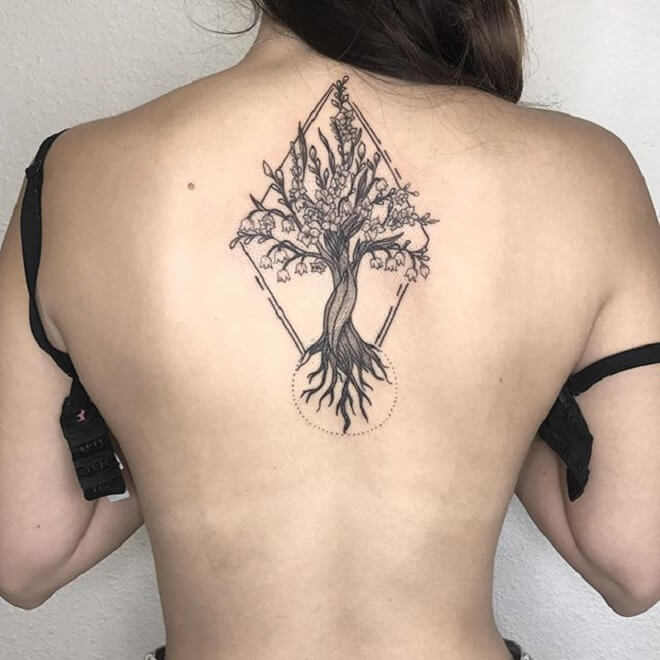 Black Back Side Tattoo