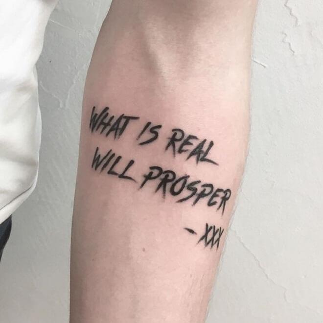 Black Text Tattoo