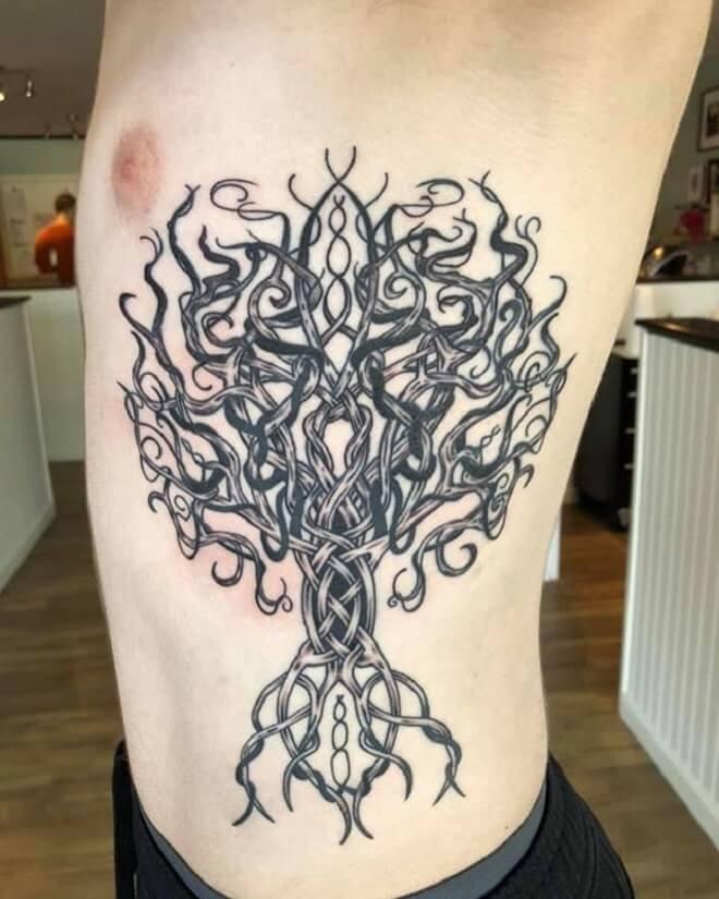 Black Tree Tattoo