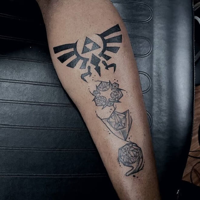 Black Triforce Tattoo