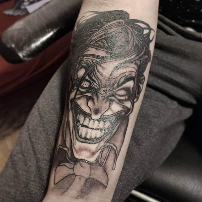 Black and grey Joker Tattoo