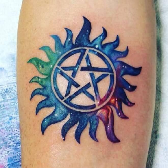 Blue Supernatural Tattoo