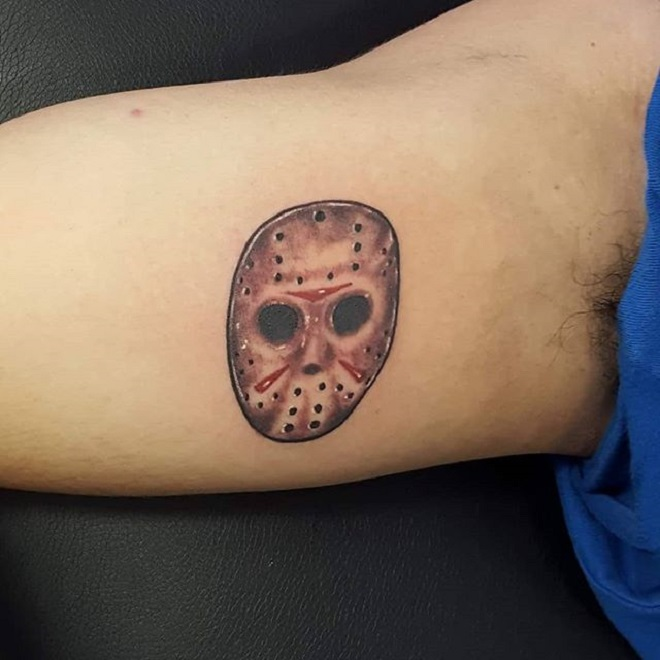 Body Jason Mask Tattoo