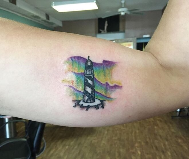 Body Lighthouse Tattoo
