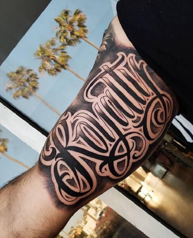 Body Script Tattoo