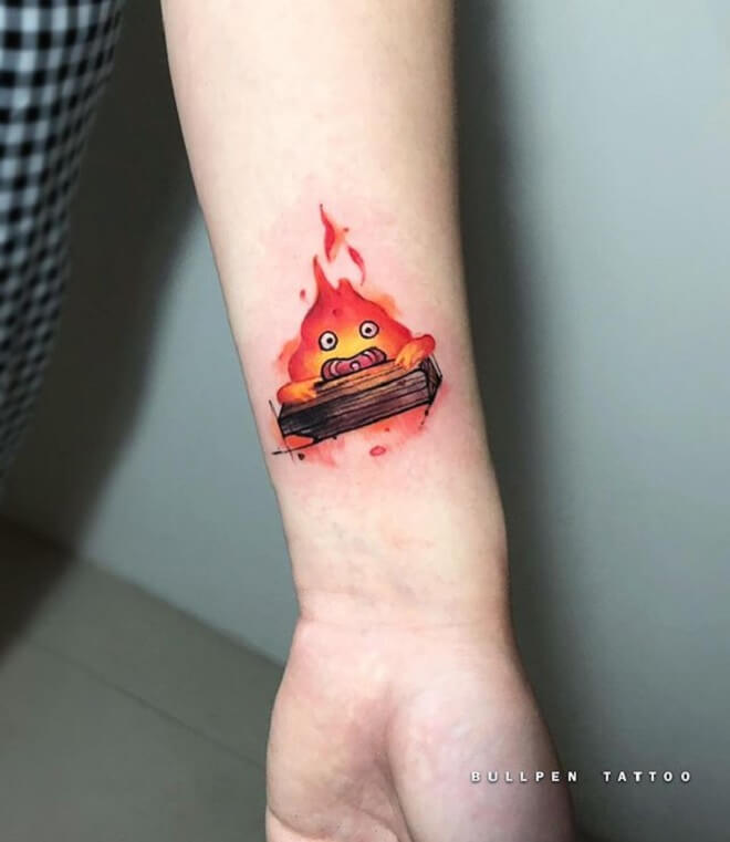 Calcifer Tattoo Designs