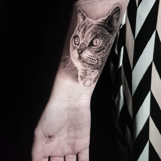 Cat Tattoo for Women