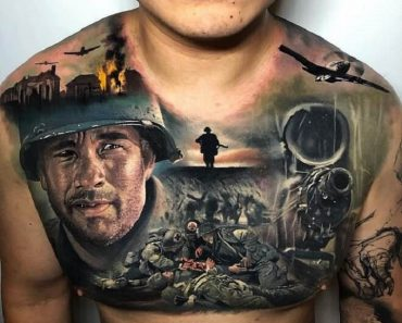 Amazing Chest Tattoo