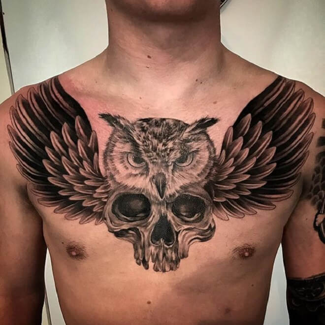 Chest Wing Tattoo