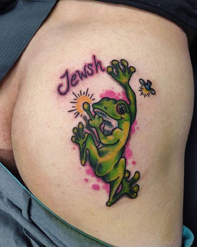 Color Butt Tattoo