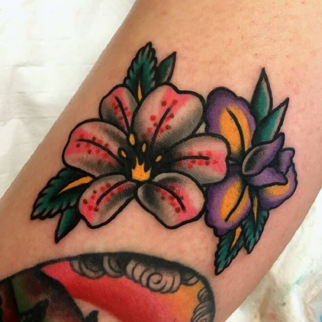 Color Lily Tattoo