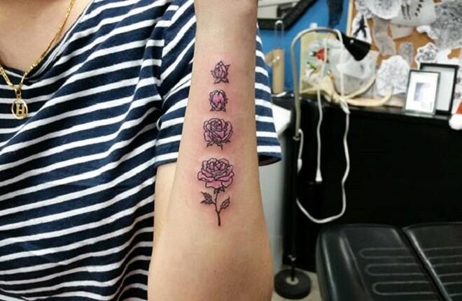 Color Simple Arm Tattoos