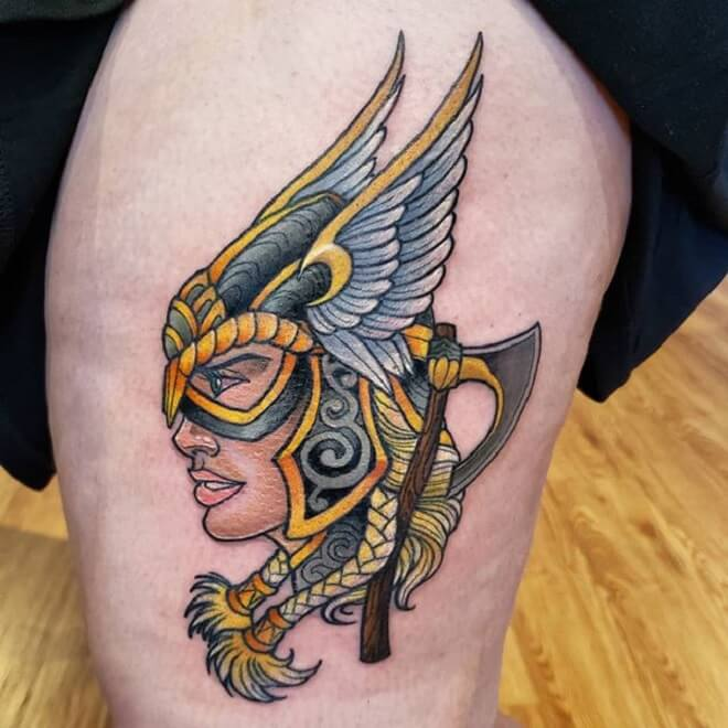 Color Valkyrie Tattoo
