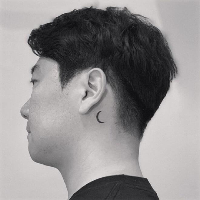 Crescent Moon Men Tattoo