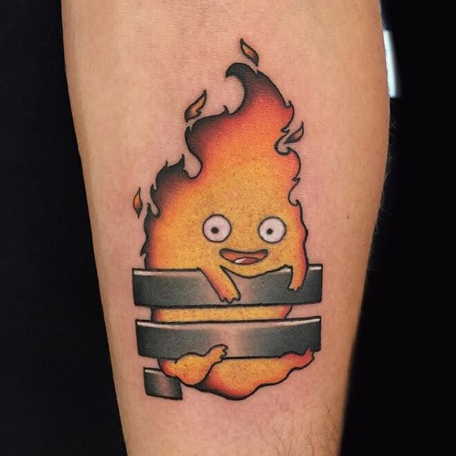 Cute Calcifer Tattoo