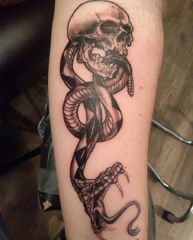 Dark Mark Grey Tattoo