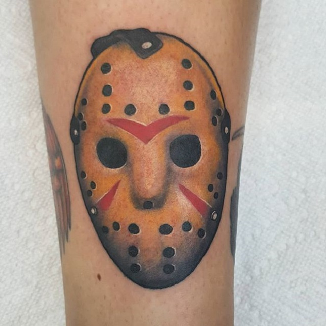 Dot Work Jason Mask Tattoo