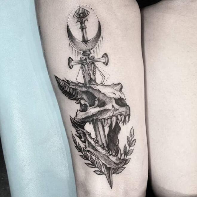 Dragon Skull Tattoo Artist
