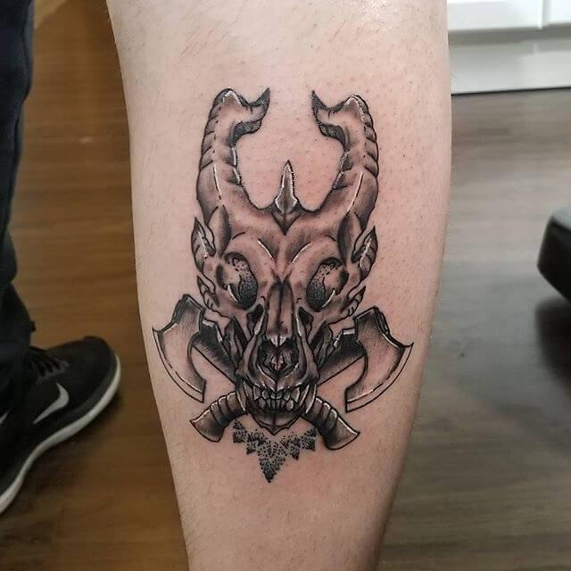 Dragon Skull Tattoo Ideas