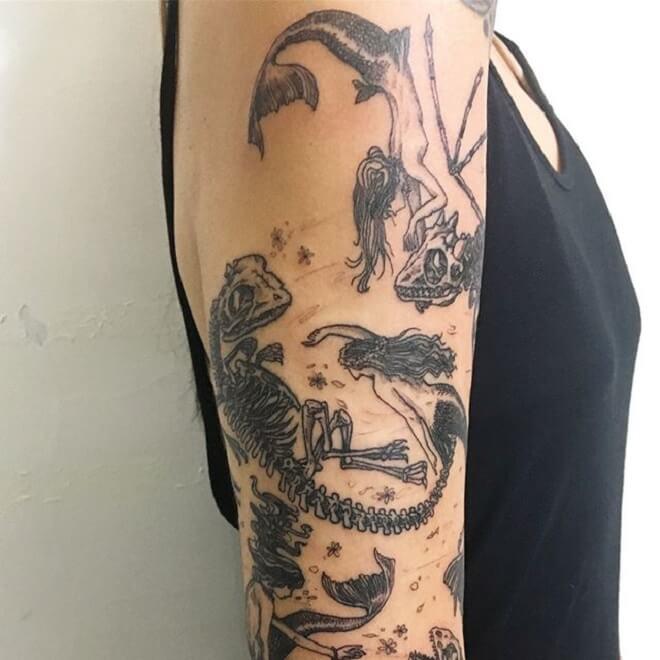 Dragon Skull Tattoo