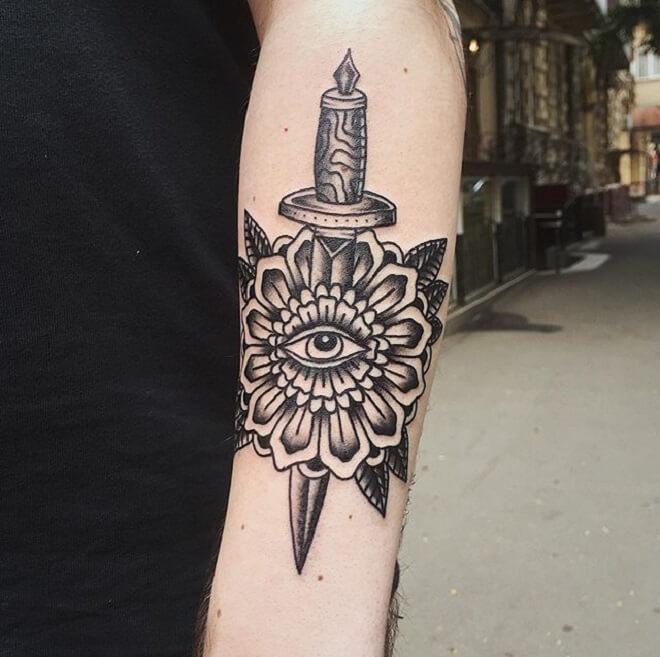 Eye Dagger Tattoo