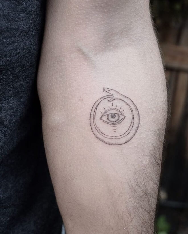 Eye Ouroboros Tattoo