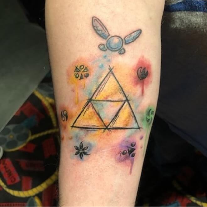 Female Triforce Tattoo