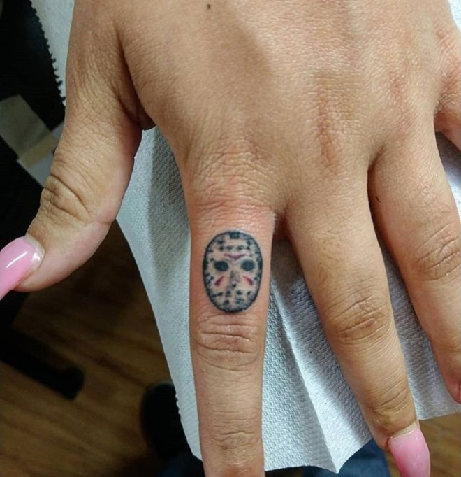 Finger Jason Mask Tattoo