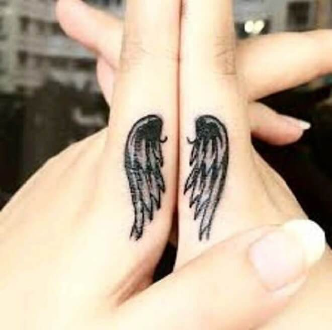 Finger Wing Tattoo