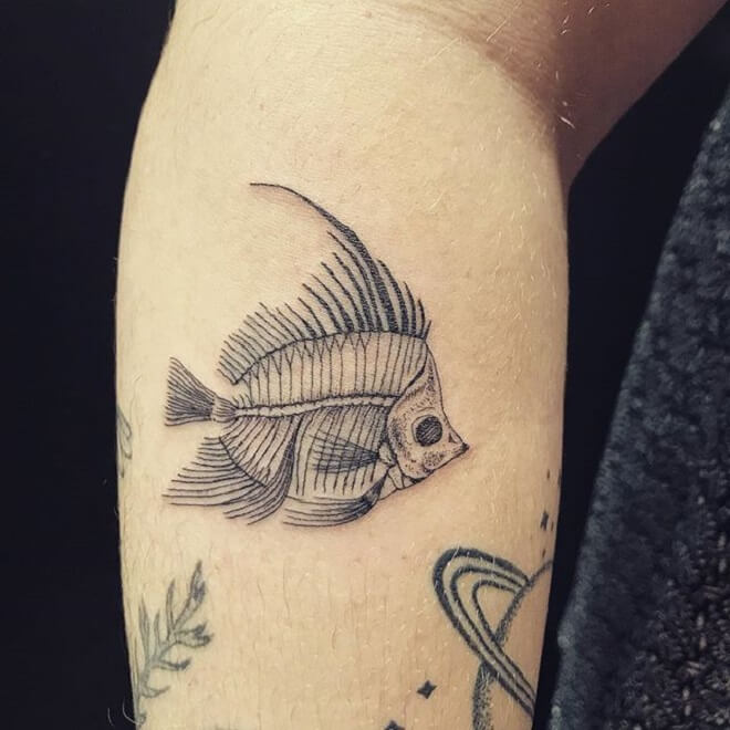 Fish skeleton Tattoo Designs