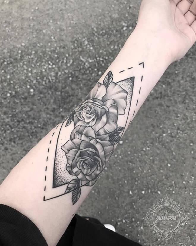 Flower Simple Arm Tattoos